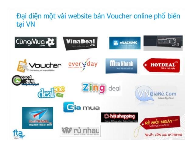 Đại diện một vài website bán Voucher online phổ biến tại VN Nguồn: tổng hợp từ Internet