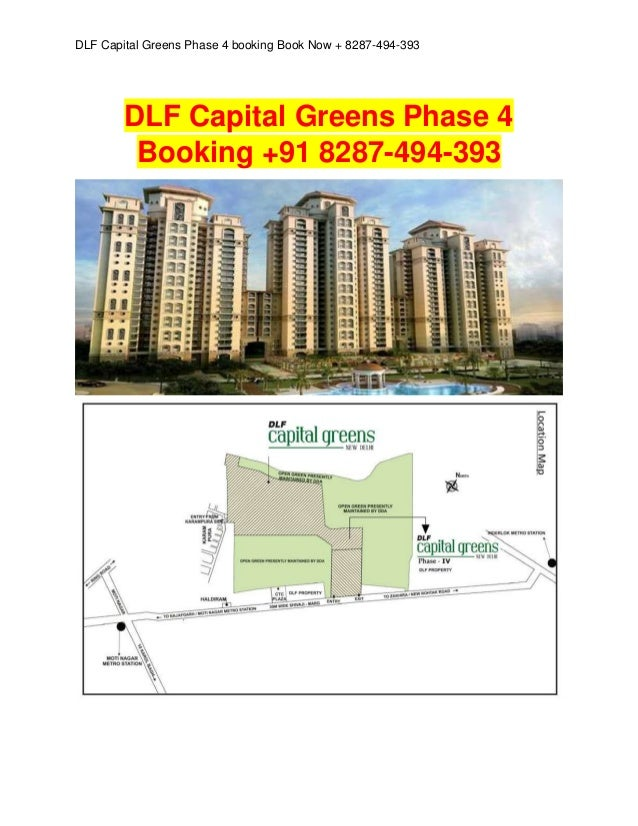 DLF Capital Greens Phase 4 booking Book Now + 8287-494-393  DLF Capital Greens Phase 4 Booking +91 8287-494-393