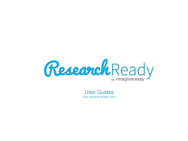 User Guides View Individual Student Data