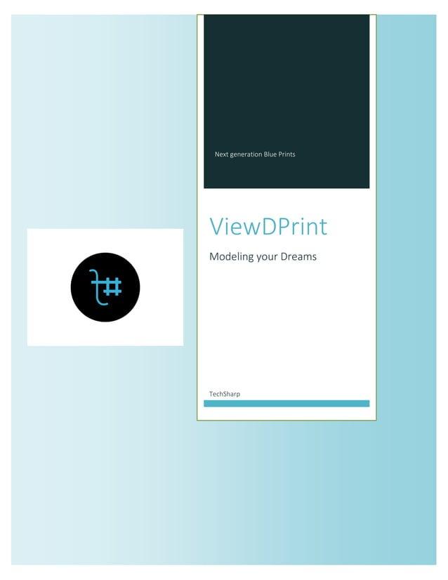 Next generation Blue Prints  ViewDPrint  Modeling your Dreams  TechSharp