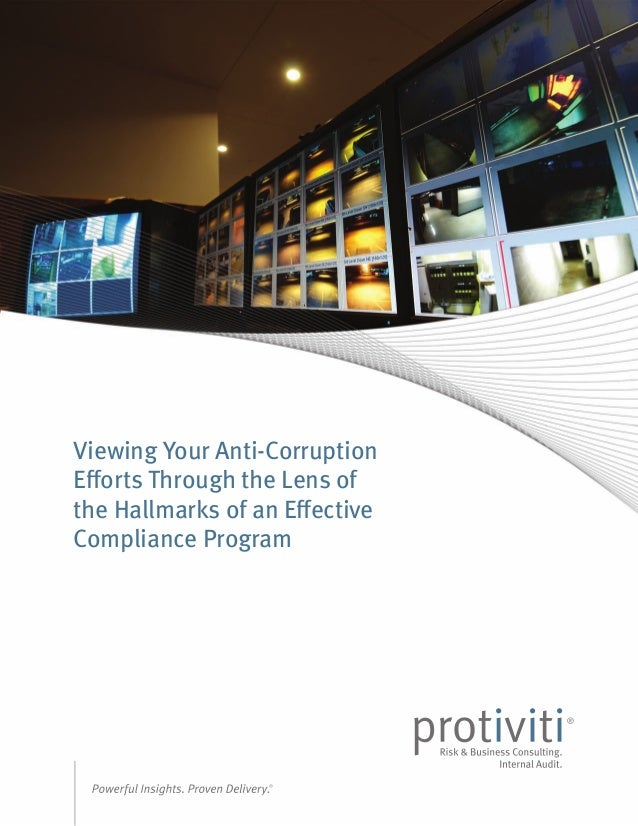 Viewing Your Anti-Corruption Efforts Through the Lens of the Hallmarks of an Effective Compliance Program