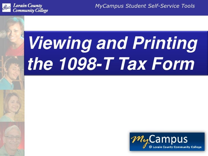 Viewing and Printing the 1098-T Tax Form<br />