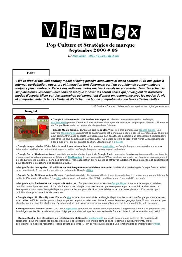 ViEWLeX                             Pop Culture et Stratégies de marque                                                  S...