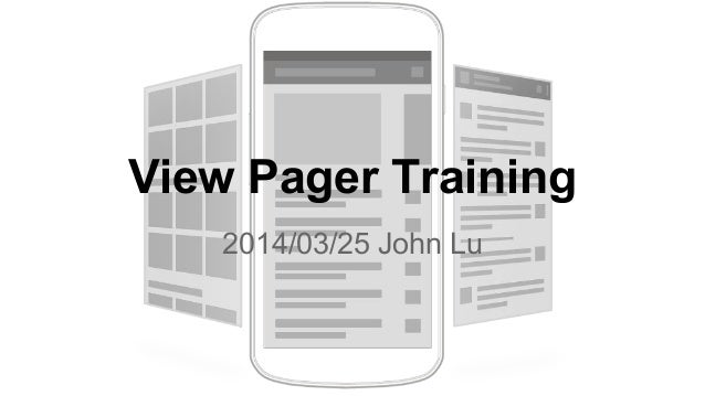 Android Training - View Pager