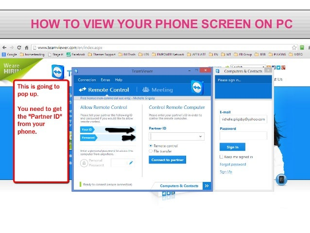 how to use phone internet on pc