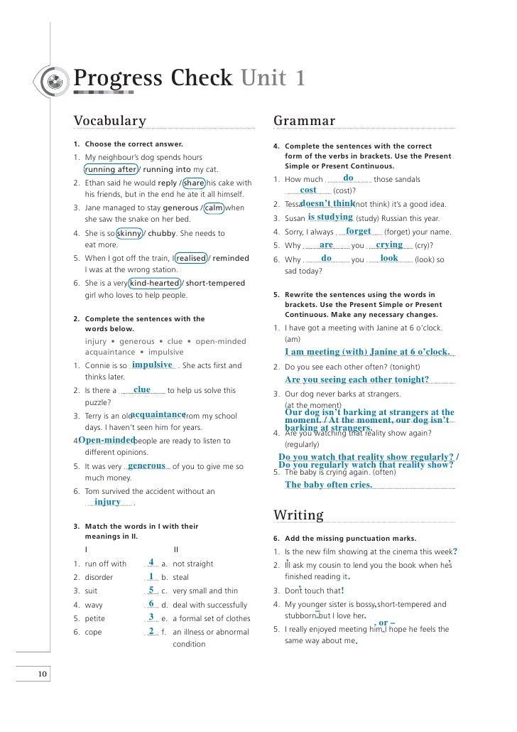 Viewpoints1 workbook key_unit1