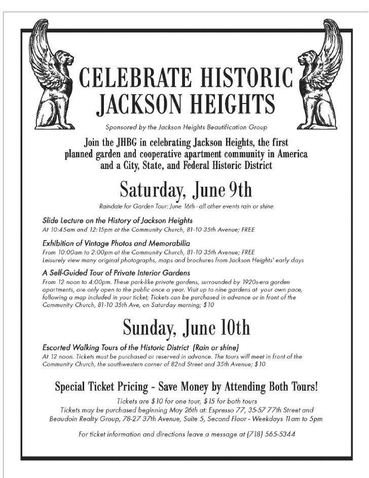 Historic Jackson Heights                      Commercial ConcernsWeekend                                       Over the pa...