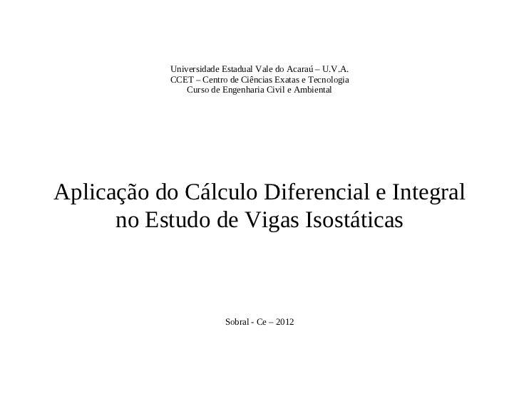 Universidade Estadual Vale do Acaraú – U.V.A.            CCET – Centro de Ciências Exatas e Tecnologia                Curs...