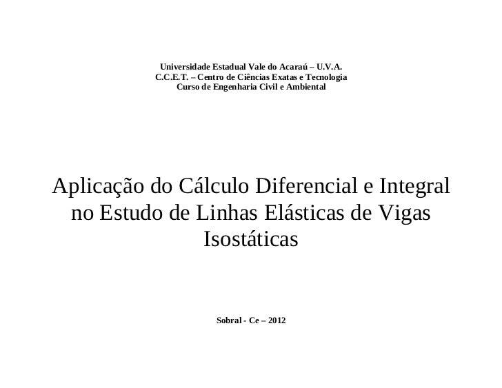 Universidade Estadual Vale do Acaraú – U.V.A.           C.C.E.T. – Centro de Ciências Exatas e Tecnologia                C...