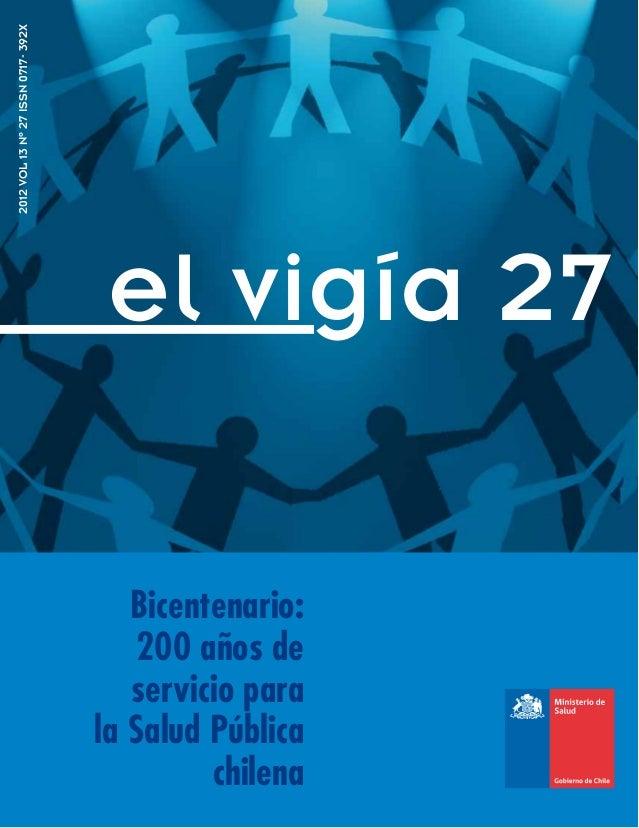 2012 VOL 13 Nº 27 ISSN 0717- 392X                                     el vigía 27                                       Bi...