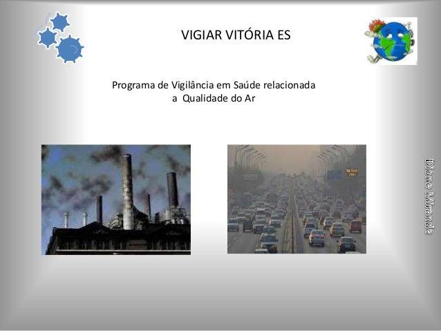 VIGIAR VITÓRIA ESPrograma de Vigilância em Saúde relacionada            a Qualidade do Ar