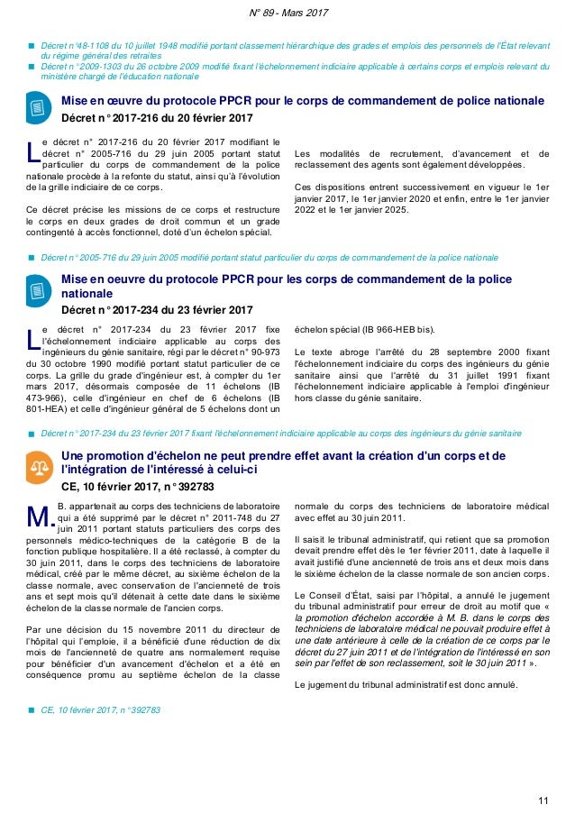 Vigie n 89 mars 2017 - Education nationale grille indiciaire ...