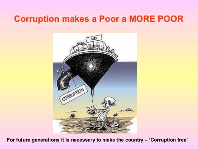 Corrupt practices can lead to disaster…
