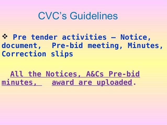 Circular Standard Bid Document