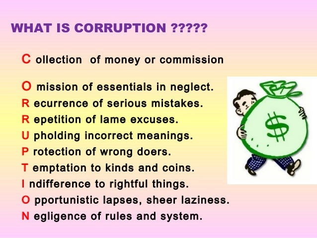 C ollection of money or commission O mission of essentials in neglect. R ecurrence of serious mistakes. R epetition of lam...