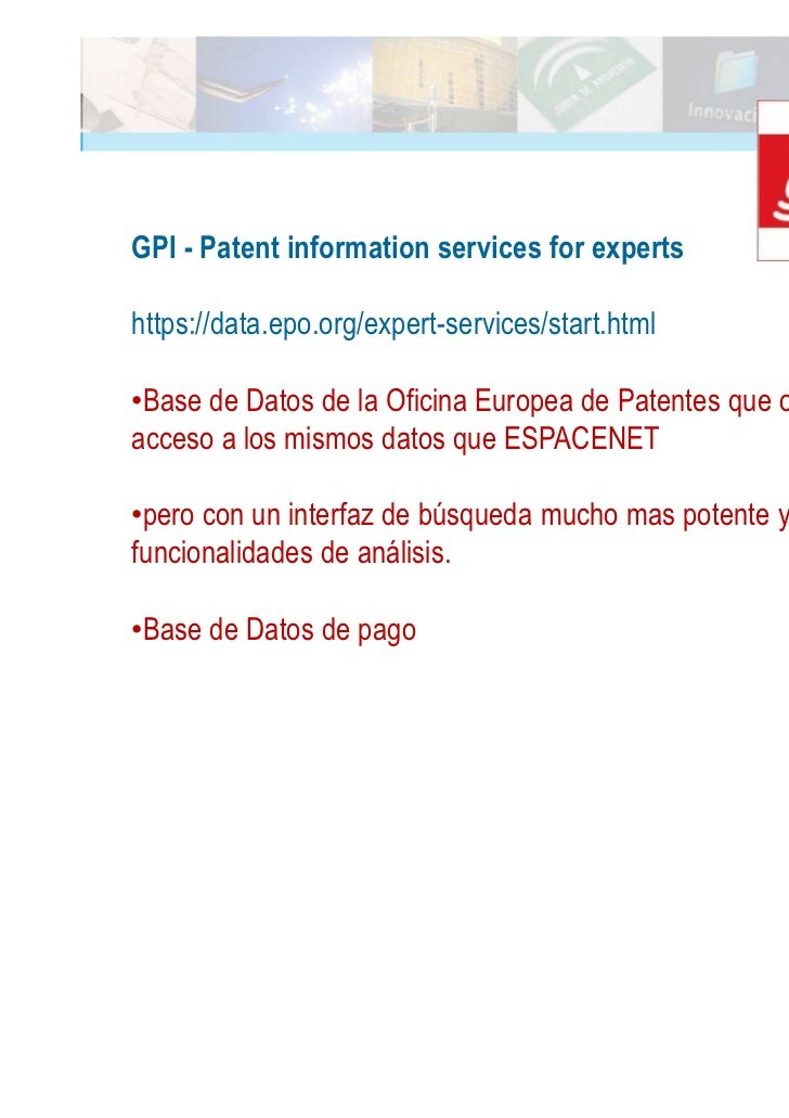 B squeda de informaci n para realizar una vigilancia for Oficina europea de patentes