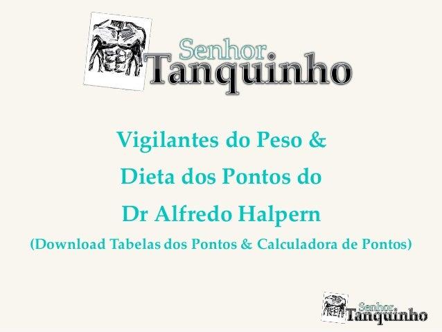 Vigilantes do Peso & Dieta dos Pontos do Dr Alfredo Halpern (Download Tabelas dos Pontos & Calculadora de Pontos)