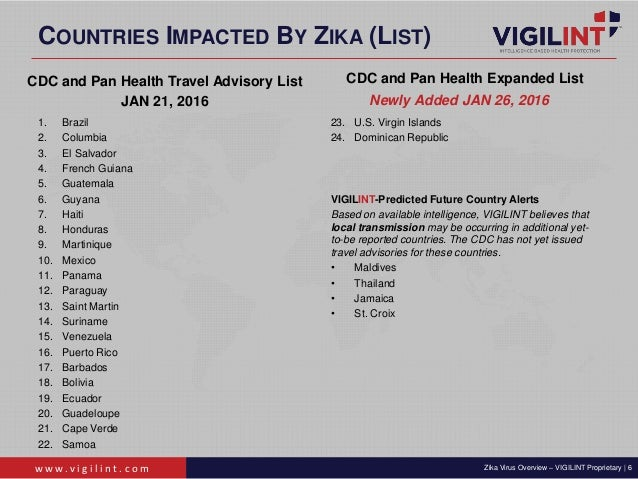 Vigilint Zika Virus Overview 1 28 2016