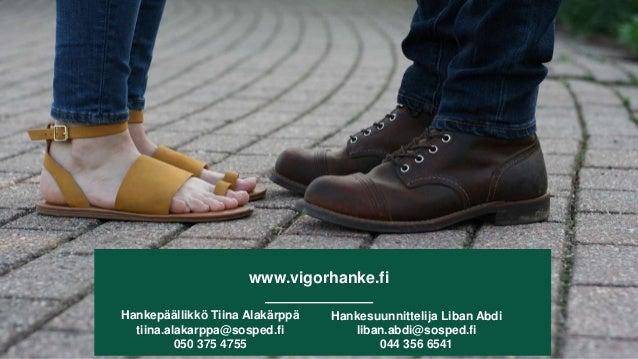 www.vigorhanke.fi Hankepäällikkö Tiina Alakärppä tiina.alakarppa@sosped.fi 050 375 4755 Hankesuunnittelija Liban Abdi liba...