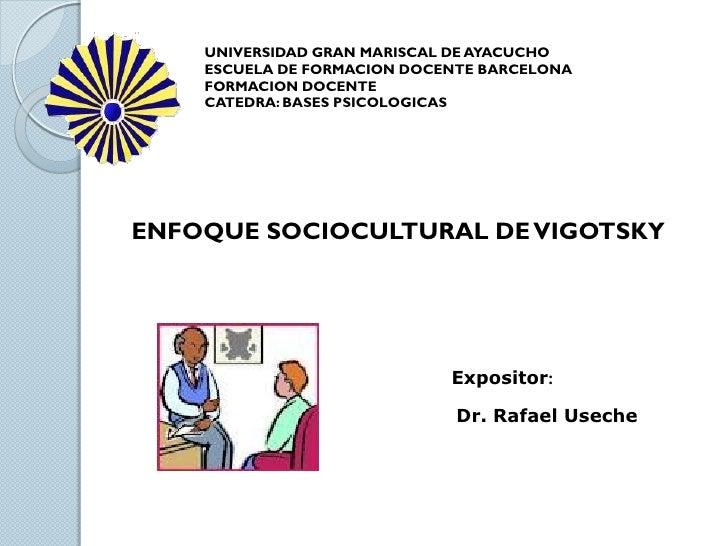 UNIVERSIDAD GRAN MARISCAL DE AYACUCHO    ESCUELA DE FORMACION DOCENTE BARCELONA    FORMACION DOCENTE    CATEDRA: BASES PSI...