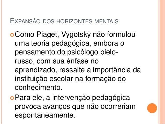 APRENDIZAGEM Para Vygotsky, a aprendizagem é um processo social e, por isso, deve ser mediada. Nessa concepção, o papel d...