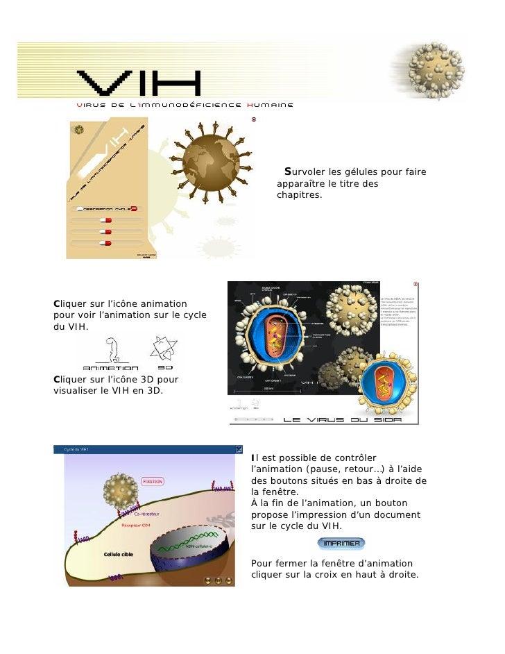 Vih     Virus de l'immunodéficience humaine                                           Survoler les gélules pour faire     ...