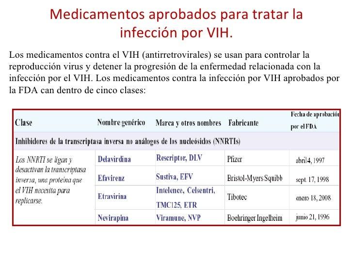Medicamentos aprobados para tratar la infección por VIH. Los medicamentos contra el VIH (antirretrovirales) se usan para c...