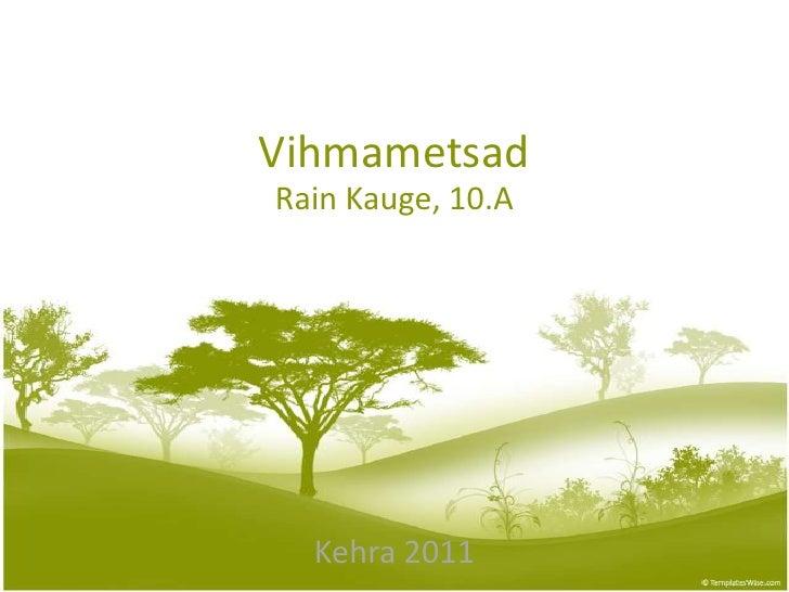 Vihmametsad<br />Rain Kauge, 10.A<br />Kehra 2011<br />