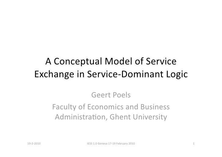 AConceptualModelofService     ExchangeinService‐DominantLogic                          GeertPoels              ...