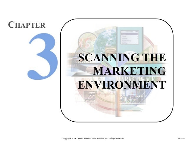 CHAPTER  SCANNING THE MARKETING ENVIRONMENT  Copyright © 2007 by The McGraw-Hill Companies, Inc. All rights reserved.  Sli...