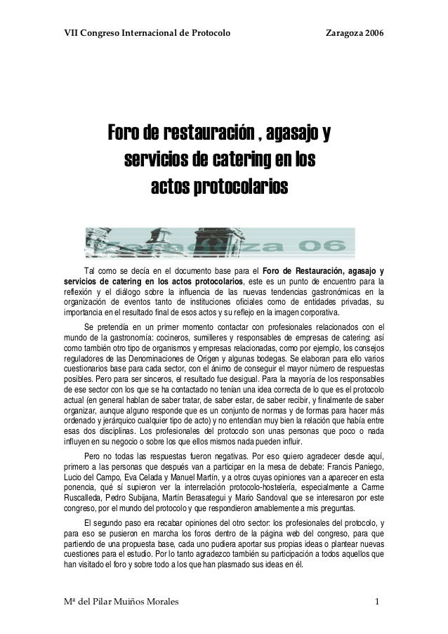 VIICongresoInternacionaldeProtocoloZaragoza2006                Foro de res...