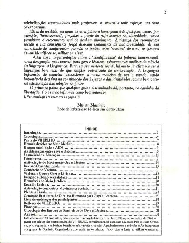 VII Encontro Brasileiro de Lésbicas e Homossexuais Slide 3