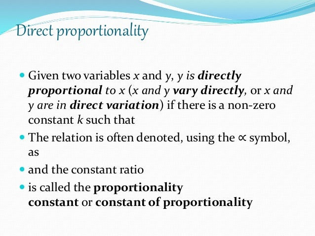 Direct And Inverse Proportion