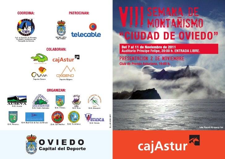VIII Semana de montaña de Oviedo (programa)