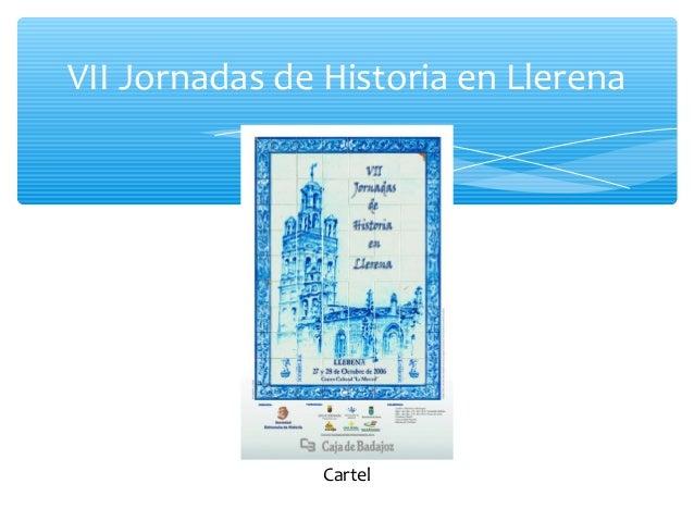 VII Jornadas de Historia en Llerena Cartel