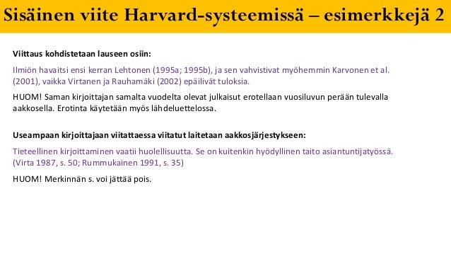 Harvard Viittaus