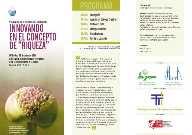16:30h. 16:45h. 19:00h. 19:20h. 20:30h. 21:00h. Recepción Apertura y Diálogo Creativo Network Café Diálogo Creativo Conclu...