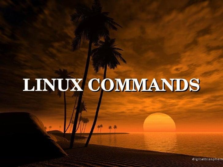 l LINUX  COMMANDS