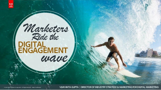 © 2014 Adobe Systems Incorporated. All Rights Reserved. Adobe Confidential. Marketers DIGITAL Ride the ENGAGEMENT wave VIJ...