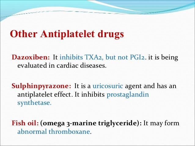 Blood cogulants and anticogulants for Fish oil triglyceride form