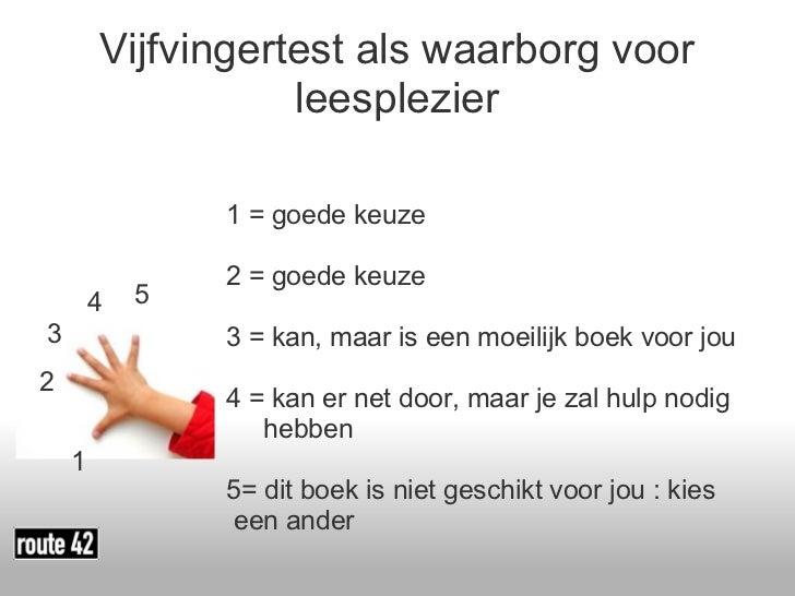 Afbeeldingsresultaat voor vijf vinger test leesniveau