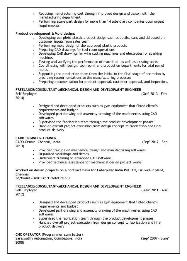 vijin resume mechanical design