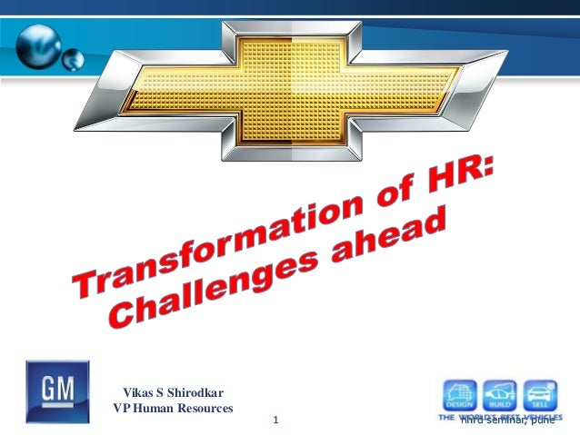 Vikas S ShirodkarVP Human Resources                     1   nhrd seminar, pune