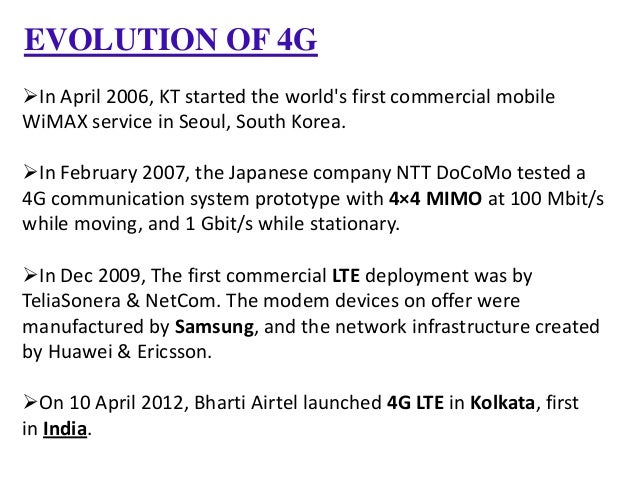 4G Technology by VIKASH