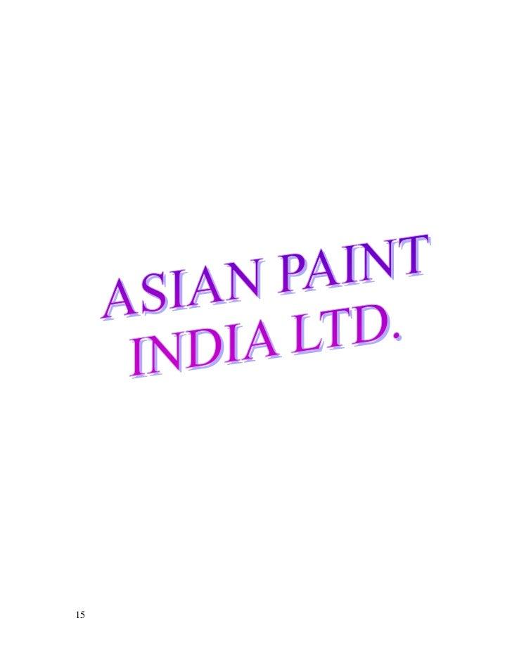 Asian paints distribution strategy