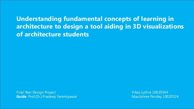 Understanding fundamental concepts of learning in architecture to design a tool aiding in 3D visualizations of architectur...