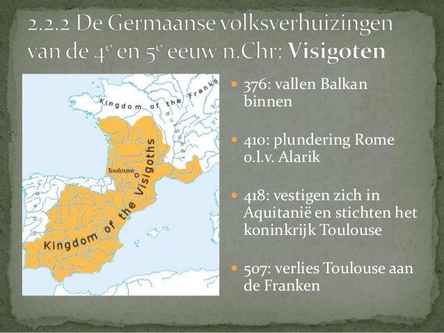  Sueven blijven in Iberië   Stichting koninkrijk in  Carthago   Teisteren Middellandse Zee  met piraterij   455: plund...