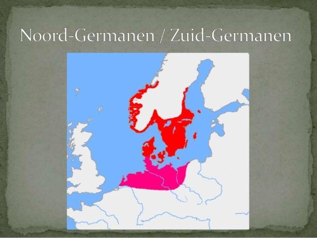  Eerste kennismaking  met Germanen is inval  Kimbren en Teutonen   2e eeuw v.Chr.   Verslagen door Romeinse  veldheer M...