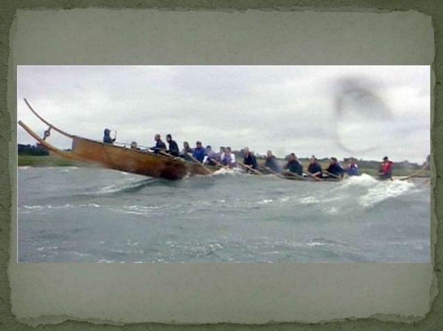 was belangrijkste sterkte van de oorlogsschepen van de  Vikingen  Geheim van het roeivermogen:  lange dolboord over de hel...