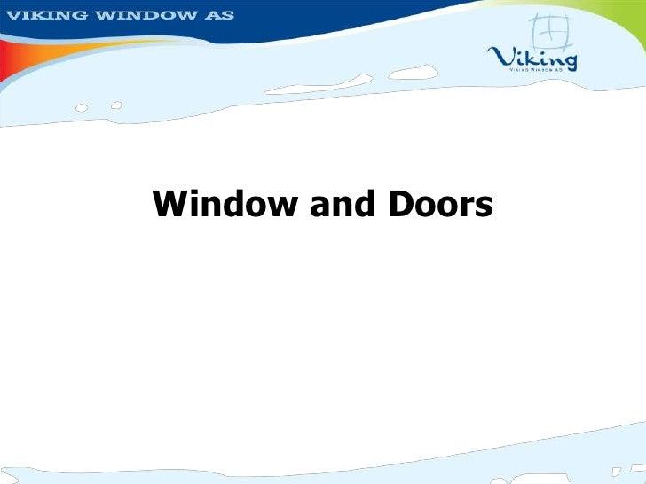 sc 1 st  SlideShare & Viking Window Corporate Presentation 2008 Uk
